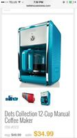 Like new coffee maker and matching electric kettle