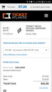 Trunk 7 music festival 2 weekend passes