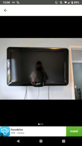 "Phillips 32"" TV with wall mount"