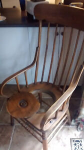 Antique Wooden Commode Chair