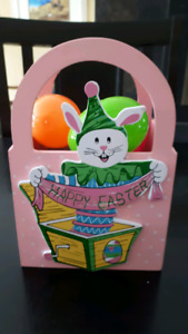 Here's a Square Wooden Easter basket to hold those your eggs!$5.