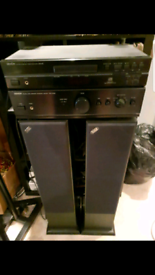 Acoustic energy AE109 bi wireable speakers Dennon amp and CD player