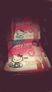 2 pkg Easy ups diapers