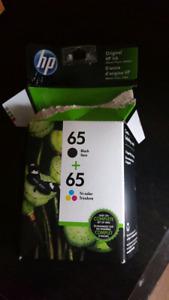Encre/Ink  HP DESKJET (#65) Combo noire/ black / trico