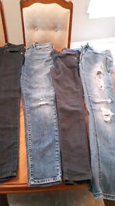 Lot de jeans XS et Small