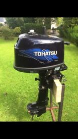 Tohatsu 4hp short shaft four stroke very low hours Boat Engine outboard