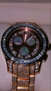Mens 13.60ct Aqua Master Diamond Watch Rolex Breitling