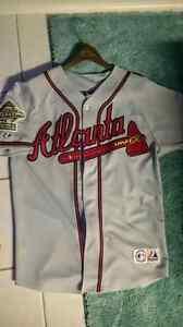 MLB Atlanta Braves Chipper Jones 95 World Series on-field jersey