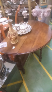 Antique walnut solid wood table