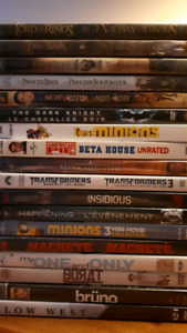Assorted DVD movies, $5 each or 3 for $10