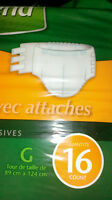 depend underwear couches -UNISEX- size S/M/L  with tabs attaches