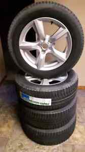 BRAND NEW Michelin PR235/55R17 Winter tires and aluminum rims in Kitchener / Waterloo Kitchener Area image 1