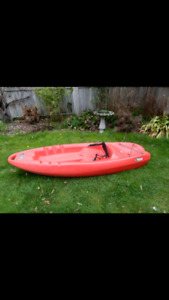 Pelican 8ft Sit On Kayak with Paddle (**Pending Sale**)