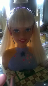 Talking Barbie Head with Accessories