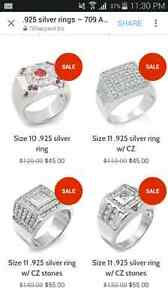 Sterling silver rings. NEW