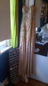 Jovani gold prom dress