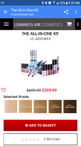 All in one airbrush make up kit