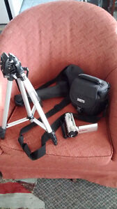 Sony Handcam Camcorder, case and tripod