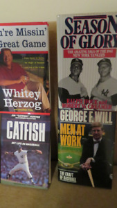 Collection of Baseball Books