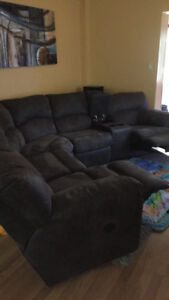 Reclining Grey sectional