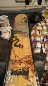 Womens boots and snowboard