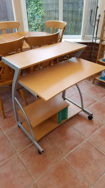 timeless design 7d4b6 f8fa1 Beech computer table | in Great Sankey, Cheshire | Gumtree