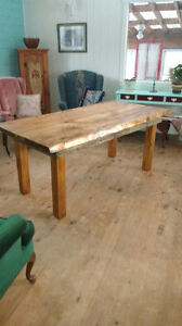 Live Edge Maple Harvest Table
