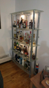 Complet Structube glass bar with 2 stools