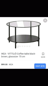 Excellent Ikea round coffee table