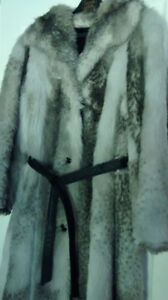 "Full-length ""fur"" coat"