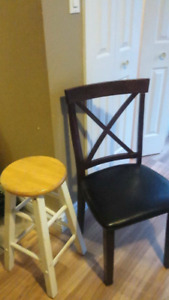 Bar stools and kitchen chairs