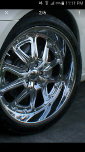 22 inch jessie james rims 5xq114.3 or 115
