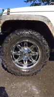 Forsale jeep rims and tires