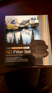 3 Pack Vivitar 55mm ND Filters - ND 2  ND 4  ND 8
