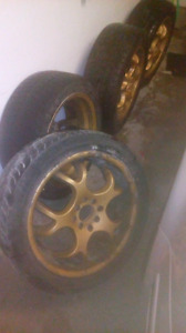 Multi fit 17in rims one cracked 205/50R17