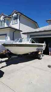 15 foot starcraft boat, motor, and trailer for sale