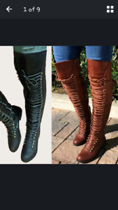30079622e23b Ladies Winter Black Flat Over the Knee Boots