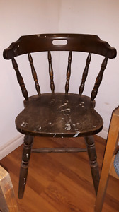 • Solid wood dining chair $30