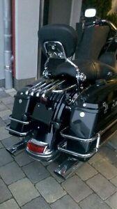 Stealth Rack Backrest Sissy Bar 4Pt Docking Kit Harley Davidson Touring 2014 up