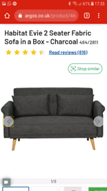 Argos Habitat 2 seater sofa, very good condition
