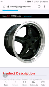 "Looking for a set of 17"" 4 bolt mustang rims (foxbody)"