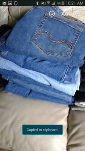 Mens jeans and dress pants