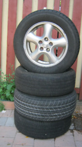 4 --16 inches tires with rims for sale