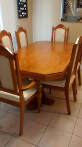 DINING TABLE WITH SIX CHAIR Cambridge Kitchener Area image 1