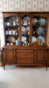 Buffet, hutch , table and chair set.