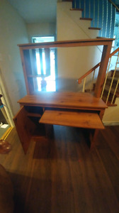 Wood computer/tv stand