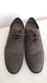 Brown nubuck mens shoes
