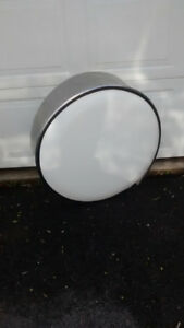 Spare tire cover for trailer or motor home