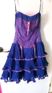 Betsey Johnson purple and pink dress