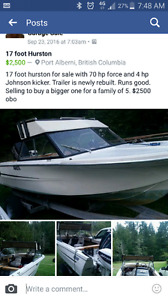 17 foot Hurston for sale